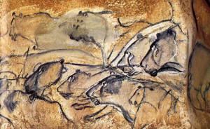 Animales pintados en la Grotte Chauvet. Los leones no son leones cualquiera, están representados con rasgos individuales