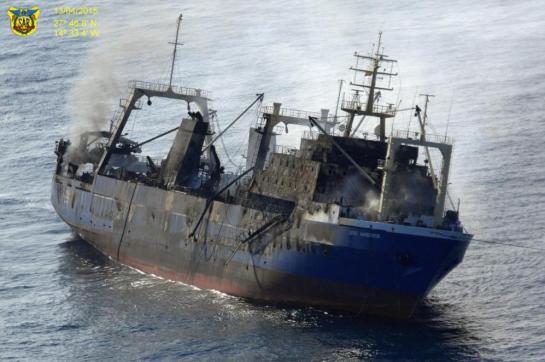 Se hunde frente a las costas de Canarias un barco con 1.500 toneladas de fuel