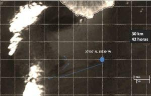Imagen de la mancha de fue vista desde el satélite de la NASA facilitada por la ULPGC