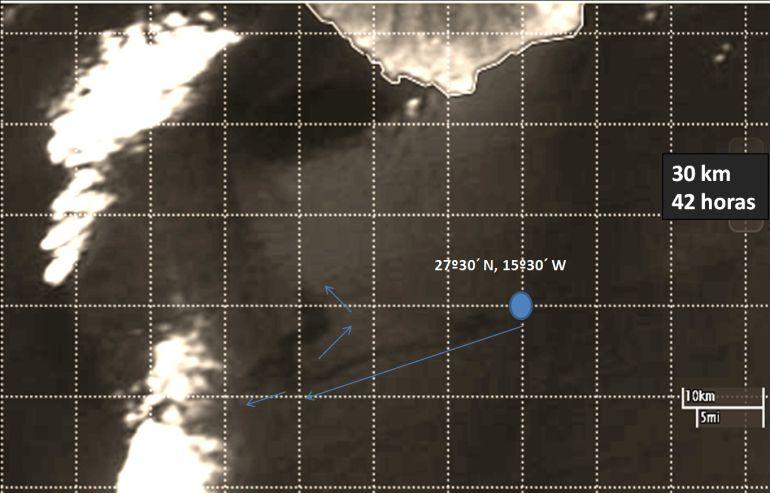 La mancha de fuel recorre 32 km en 40 horas y ya está 25 millas de Gran Canaria