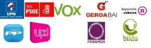 Logos partidos politicos en NAvarra