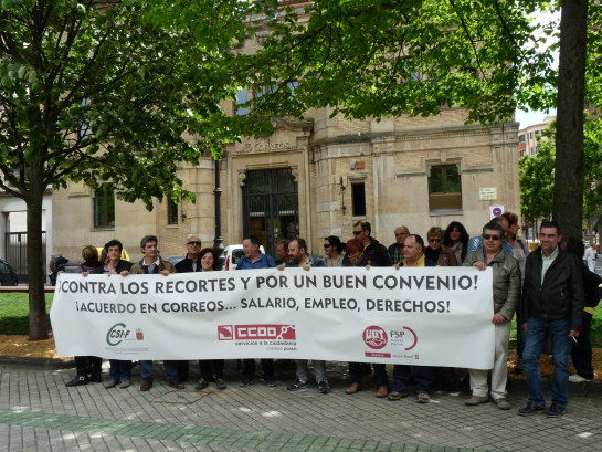 Trabajadores de Correos se movilizan contra el «recorte» de puestos de trabajo