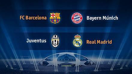 Champions: Barcelona-Bayern y Juventus-Real Madrid, en semifinales