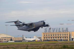 Airbus militar se estrella Sevilla