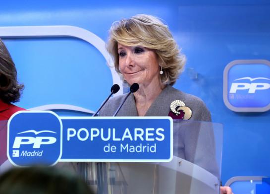 20 D: Aguirre demandará a Pedro Sánchez por acusarla de ser corrupta