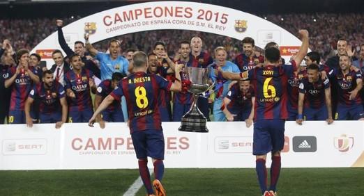 El F. C. Barcelona gana la Copa del Rey con Messi