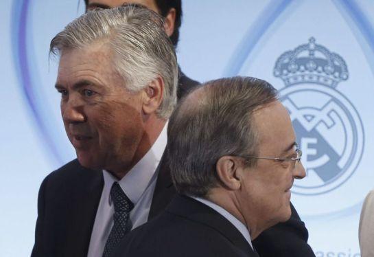 Florentino Pérez y la junta directiva deciden hoy el futuro de Ancelotti
