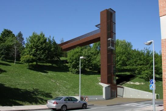 El ascensor de Mendillorri entrará en funcionamiento para los próximos Sanfermines