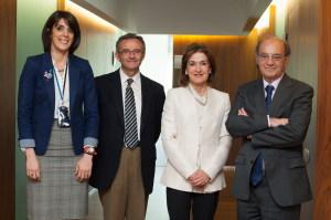De  izquierda a derecha, María Carmen Portillo, Juan Fernando Sellés, María Isabel Saracíbar y Jesús Prieto