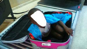 niño que se ocultó en una maleta en Ceuta