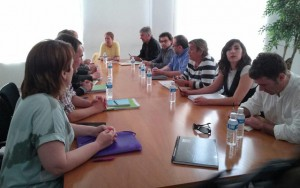 representantes de Geroa Bai, EH Bildu, Podemos e Izquierda-Ezkerra