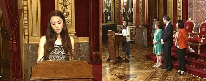 Los colegios Hijas de Jesús y Larraona ganan la fase navarra del certamen Euroscola 2015