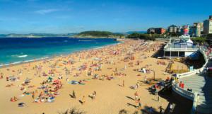 Primera playa del Sardinero, Santander.
