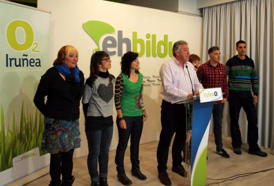 Joseba Asiron (EH Bildu) se ve alcalde de Pamplona tras reunirse con Geroa Bai