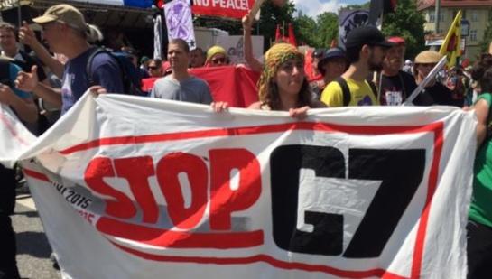 Multitudinaria protesta en Alemania contra la Cumbre del G7
