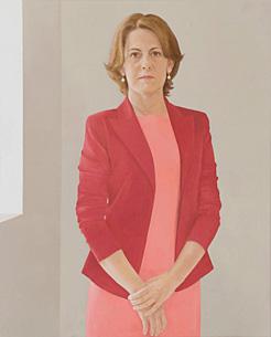 El retrato de Barcina realizado por la 'retratista' de los Reyes Felipe VI y Letizia