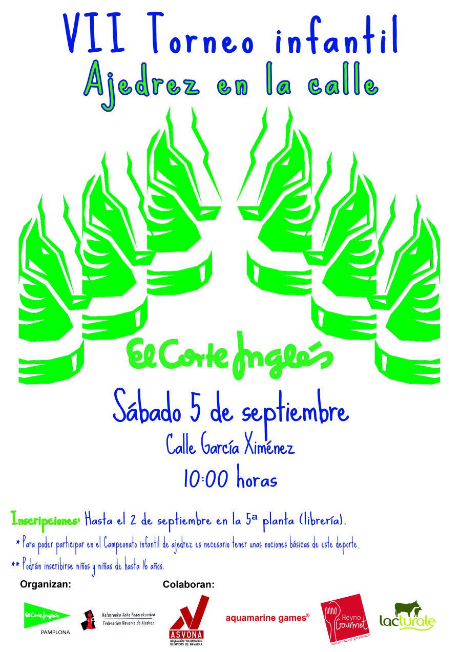 El Corte Inglés de Pamplona y la Federación de Ajedrez organizan el VII Torneo de Ajedrez