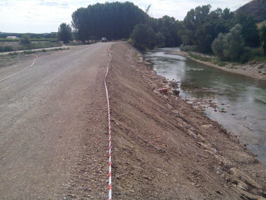 La CHE finaliza el acondicionamiento del río Ega en Cárcar (Navarra)