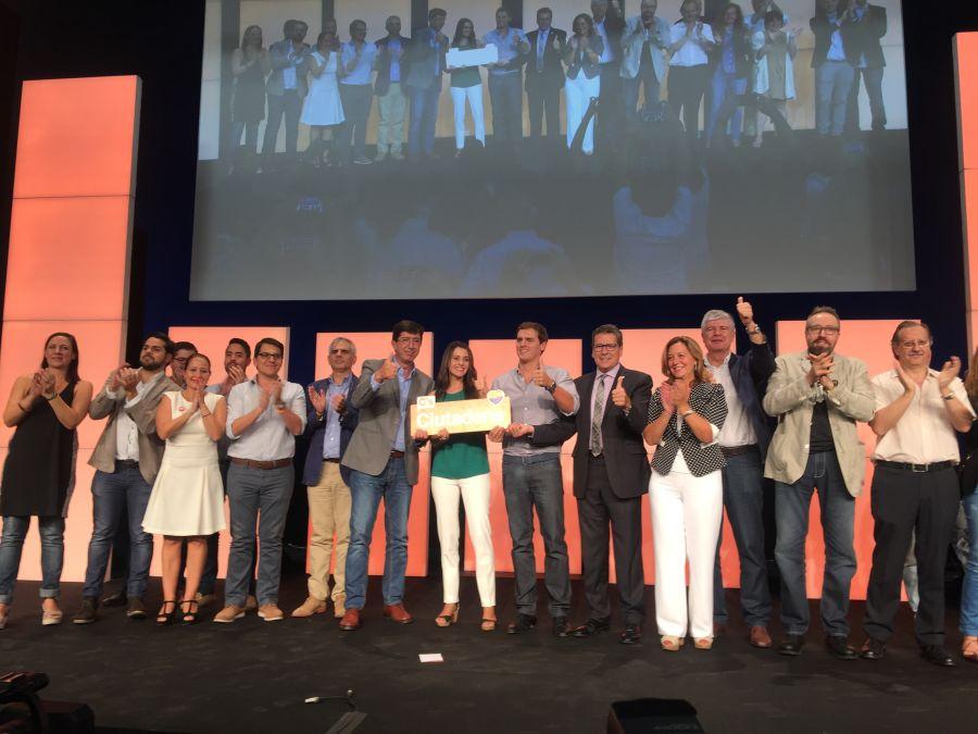 Inés Arrimadas: 'Nadie nos hará escoger; ser catalanes, españoles y europeos suma y es un proyecto de futuro'