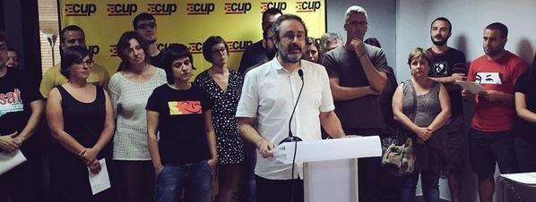 La CUP descarta una declaración unilateral de independencia y veta a Mas como presidente