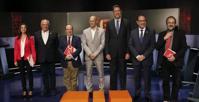 Debate electoral en TV3 de candidatos en Cataluña marcado por las acusaciones de corrupción
