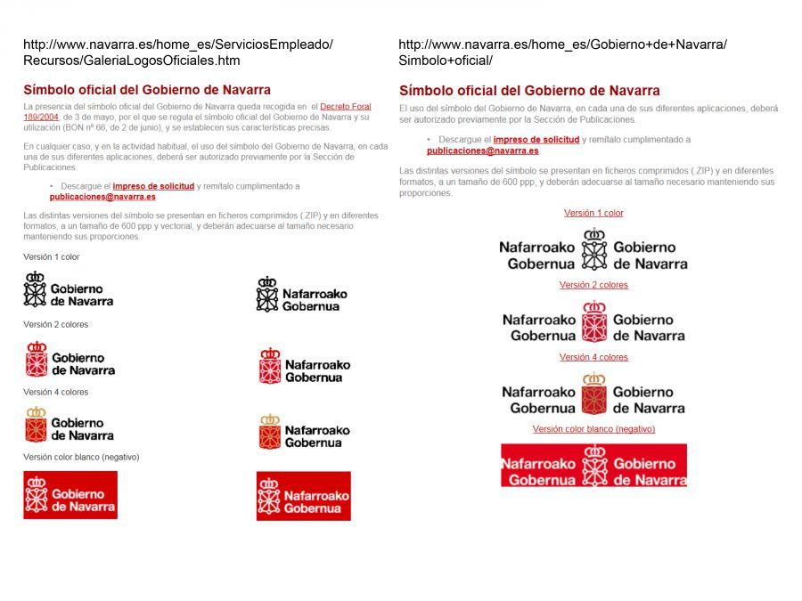 """UPN denuncia el incumplimiento del """"símbolo oficial"""" del Gobierno de Navarra"""
