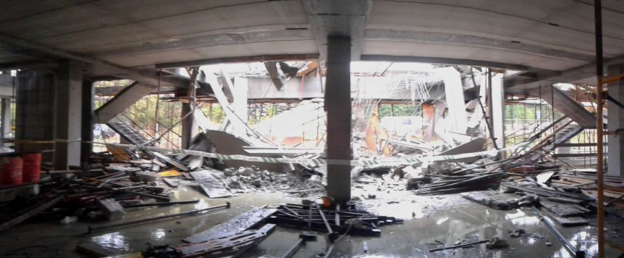 Un fallecido y tres heridos, uno muy grave, al ceder un edificio en construcción en Dancharinea (Navarra)