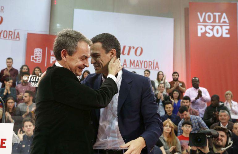 Sánchez reivindica el legado de Zapatero como aval para ganar las elecciones