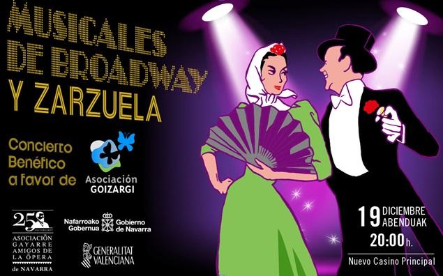 AGENDA: 19 y 20 de diciembre, Nuevo Casino Principal de Pamplona, Musicales de Broadway y Zarzuela de AGAO