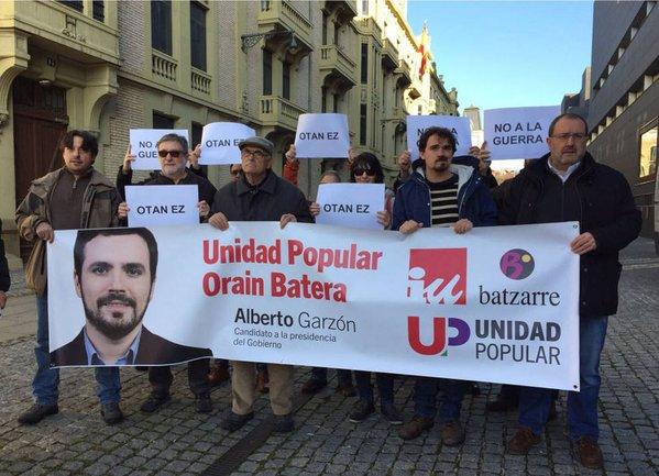 """20D: Unidad Popular defiende que se debe """"descartar de raíz el recurso a la guerra"""" contra las agresiones yihadistas"""