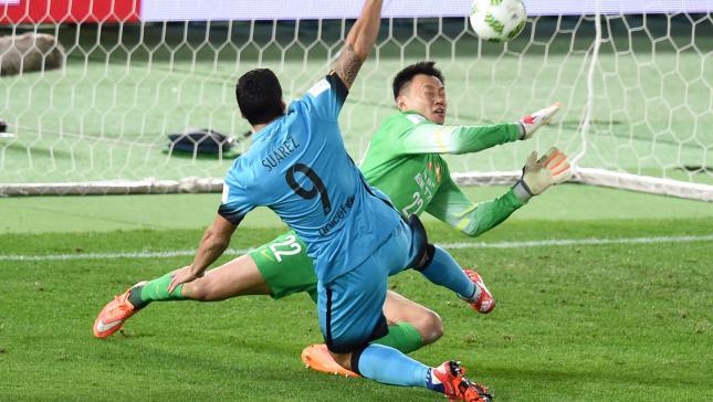 Suárez se basta para doblegar al Guangzhou y meter al Barcelona en la final