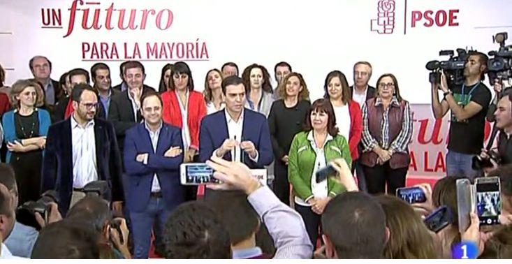 """20 D: Sánchez dice que España quiere """"izquierda"""" pero es el PP quien debe """"intentar formar gobierno"""""""