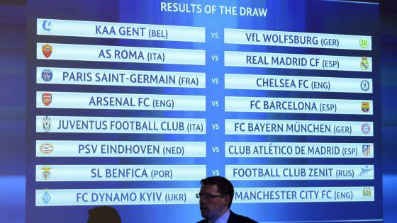 Roma-Real Madrid, Arsenal-FC Barcelona y PSV-Atlético