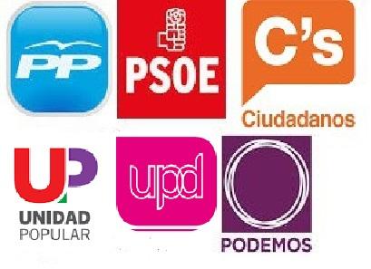 20 D: PP, PSOE, Ciudadanos, IU y UPyD cierran la campaña en Madrid y Podemos en Valencia