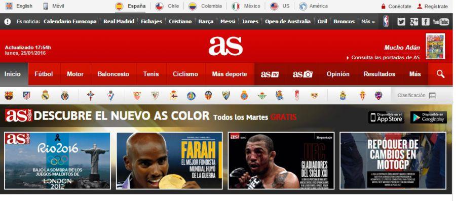 'AS' lanza su edición digital en Estados Unidos