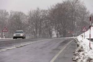 Carretera navarra en situación de vialidad invernal.NAVARRAINFORMACION.ES