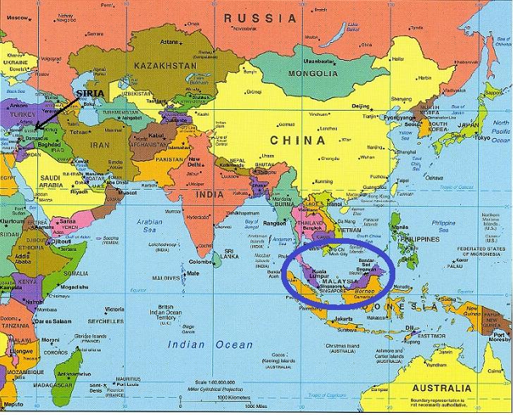 Mapa Asia Malasia Navarra Informacion