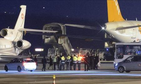 Llegan a una base de EEUU en Alemania los tres estadounidenses liberados por Irán