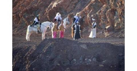 Tharsis (Huelva) recrea salida de los Reyes Magos hacia Belén