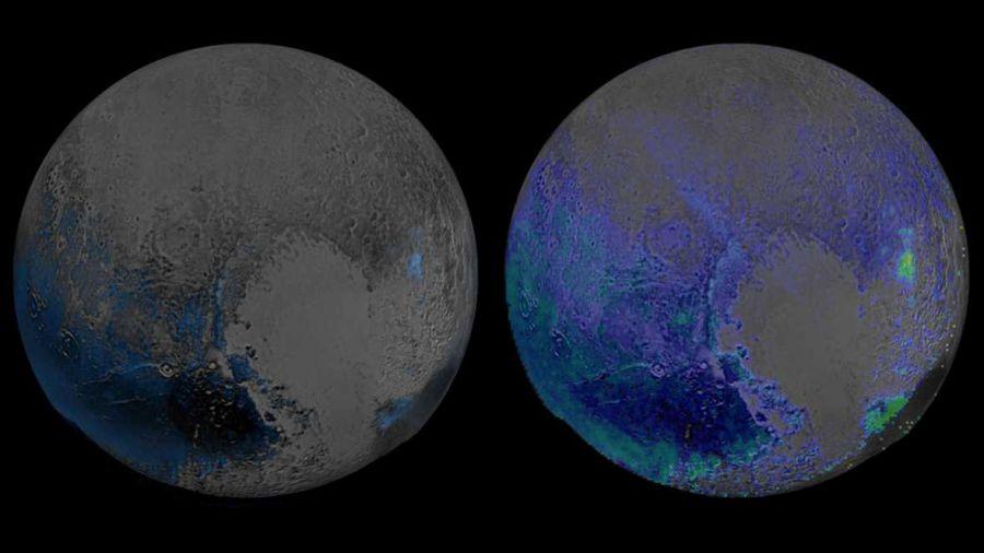 La NASA encuentra reservas de agua congelada en Plutón