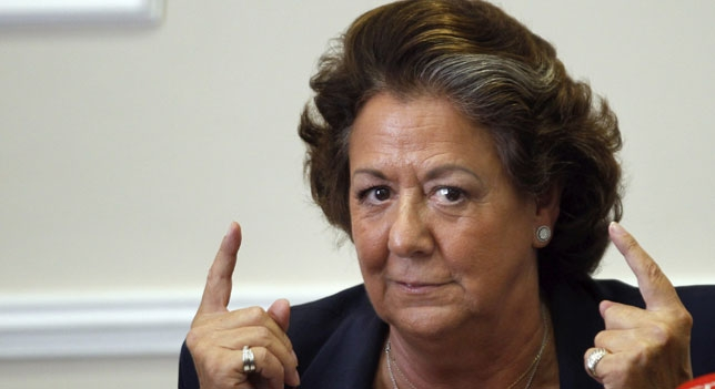 Rita Barberá, muy enfadada porque cree que el partido no la ha defendido como se merece