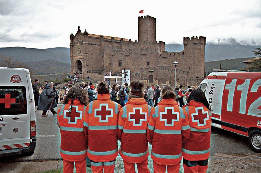 Dispositivo que Cruz Roja Navarra para la 1ª Javierada