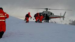 Rescatado un montañero en Villanueva de Aezcoa con una pierna fracturada tras caerse en el monte Berrendi