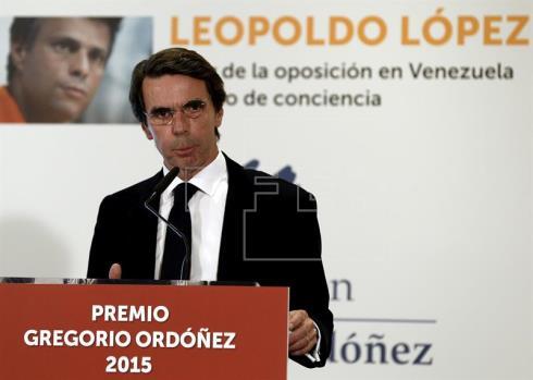 Aznar: Hay una sensación de fatalidad por la creencia de un país ingobernable