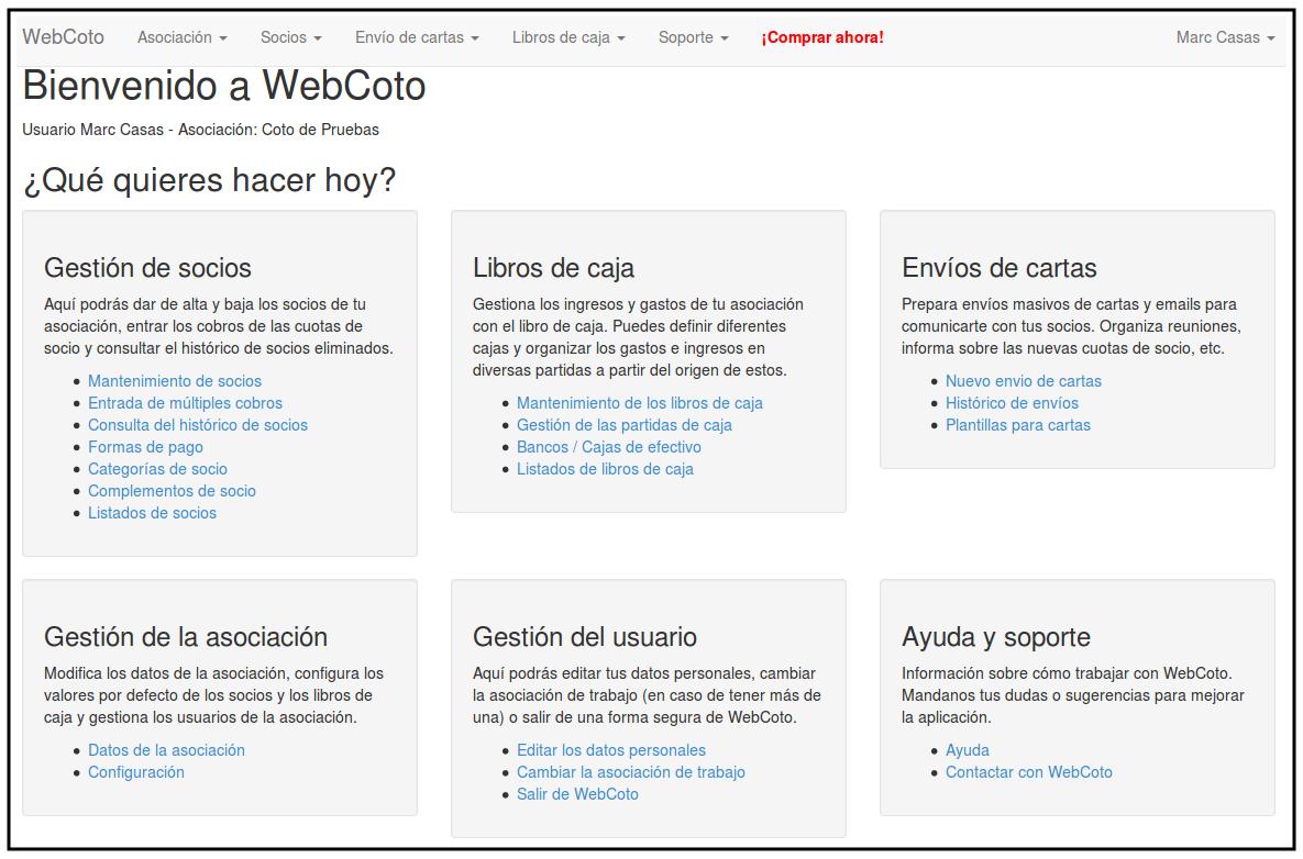 Nace WebCoto, aplicación web para la gestión de asociaciones de cazadores