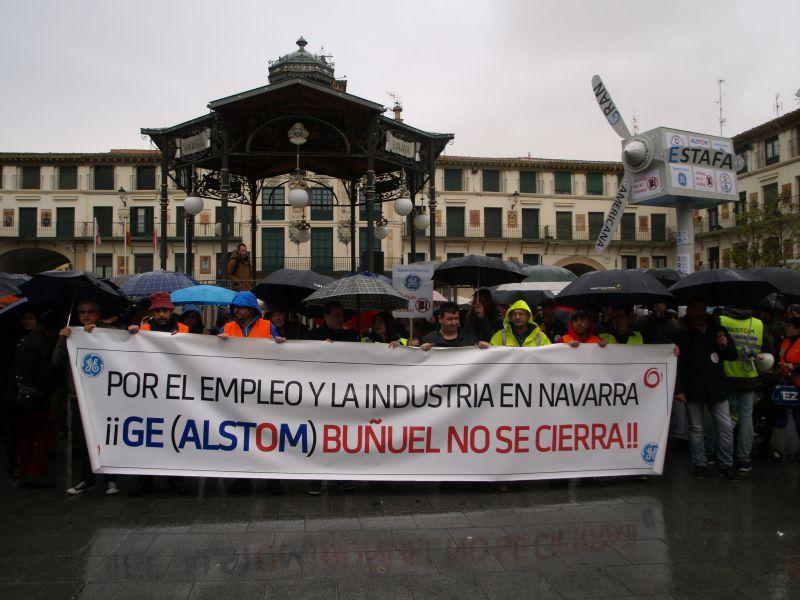 UPN y PSN trasladan el apoyo y compromiso a General Electric España en Buñuel (Navarra)