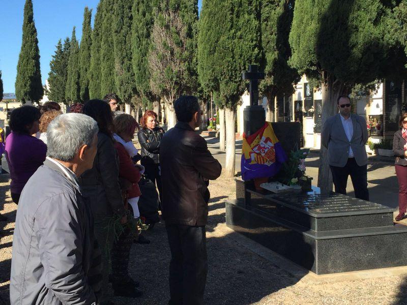 PSN rinde homenaje a los fusilados y represaliados del franquismo en  Fustiñana