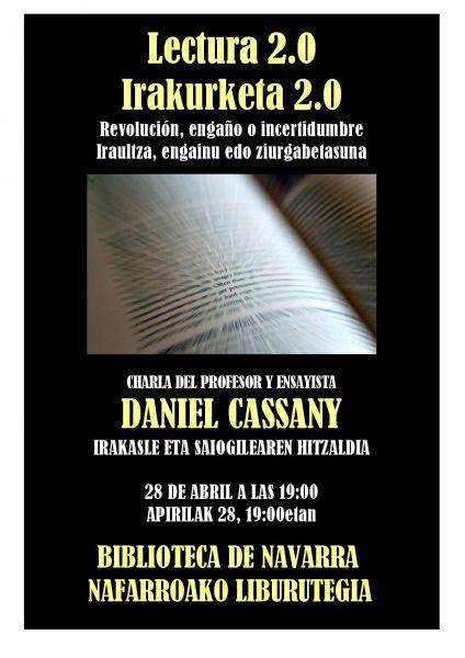 """AGENDA: 28 de abril, en Biblioteca de Navarra, """"lectura 2.0"""" vía Internet"""