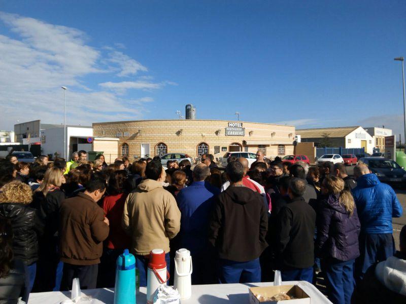 Tercera jornada de movilizaciones de la plantilla de TRW en Corella