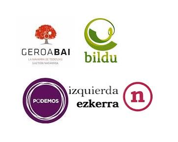 Geroa Bai, Bildu, Podemos e I-E presentan una declaración para tomar medidas de captación de ETB en Navarra